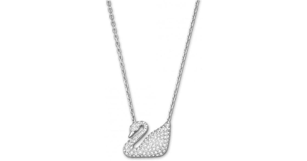 826545cdf73b Lyst - Swarovski Swan Necklace in Metallic
