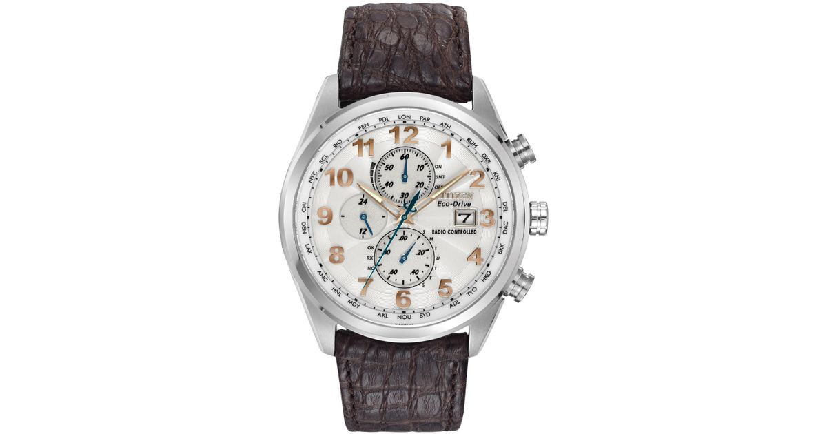1ec0a9855 Citizen At8010-23a Eco-drive Limited Edition World Chronograph A-t Watch in  Metallic for Men - Lyst