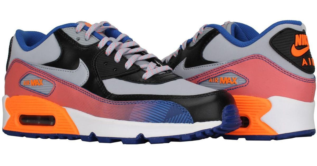 quality design 84f88 10a57 Lyst - Nike Air Max 90 Premium Leather (gs) Big Kids Running Shoes Size 5  in Blue for Men