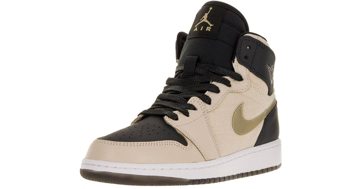 info for ff2ce cdfec Lyst - Nike Jordan Kids Air Jordan 1 Retro Hi Prem Hc Gg Basketball Shoe-prl  Wht mtlc Gld Str-6 for Men