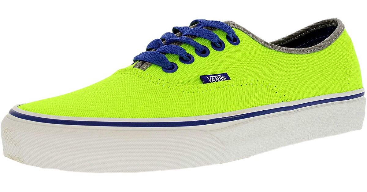 Lyst - Vans Authentic Brite Neon Green blue Ankle-high Canvas Fashion  Sneaker in Green for Men 0e7674f2ba