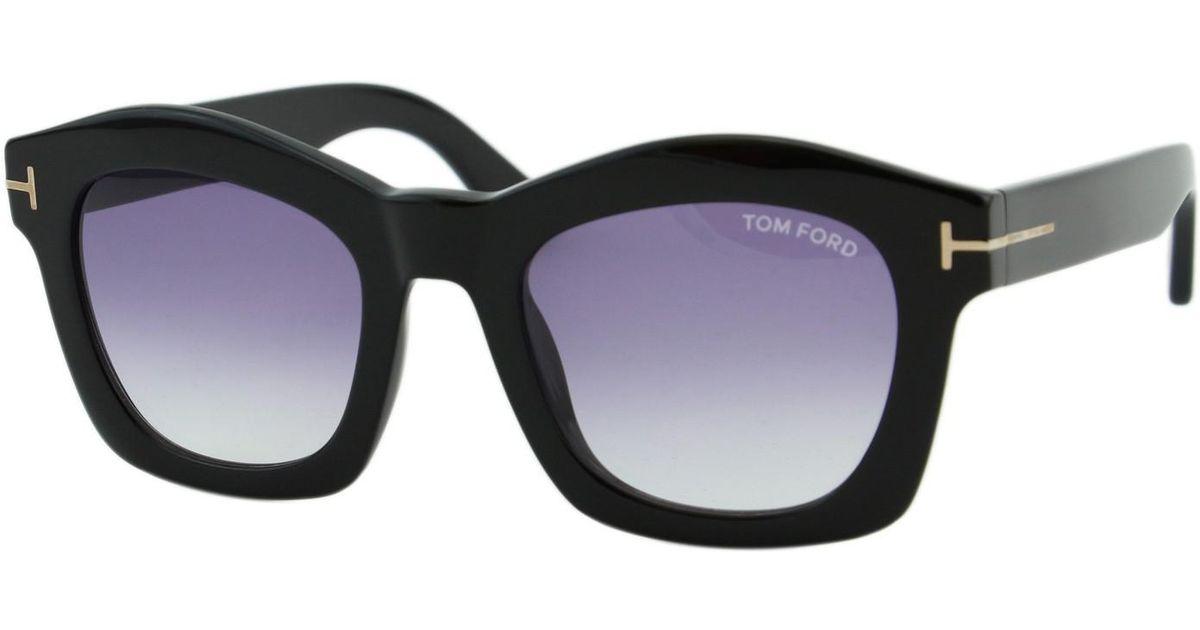 1837196d58 Lyst Tom Ford Greta Ft 431 01z Square Thick Frame T Logo