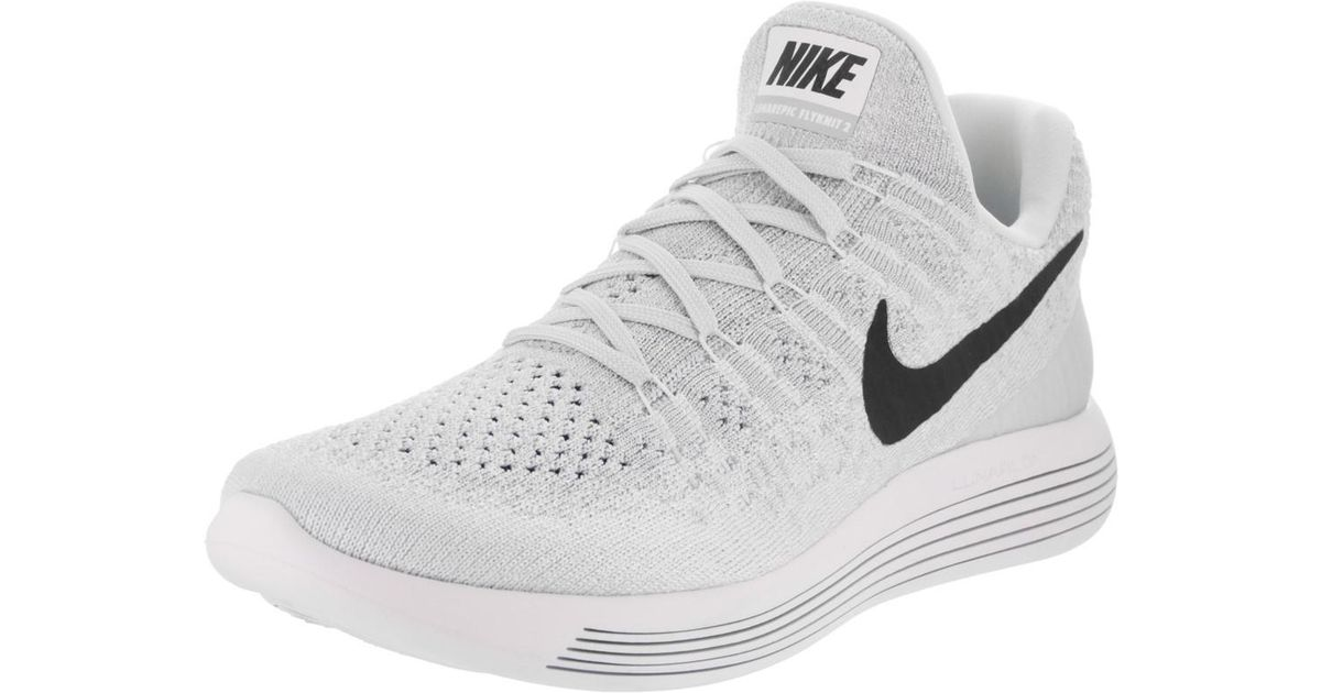 e5dbdf86a941 Lyst - Nike Lunarepic Low Flyknit 2 White black pure Platinum Running Shoe  9.5 Women Us in White