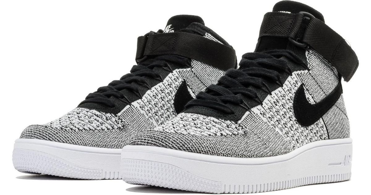 super cute ab810 bd330 Nike - Air Force 1 Ultra Flyknit Mid Black/white 817420-011 (size:9.5) for  Men - Lyst