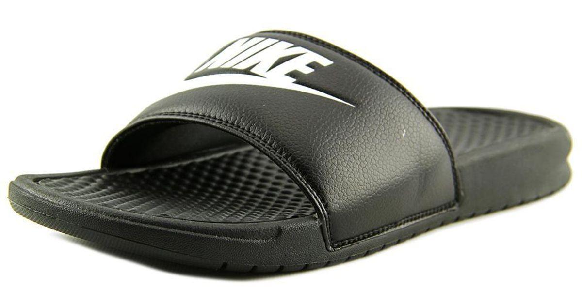 newest c3e28 8539a Lyst - Nike Benassi Solarsoft Slide 2 Men Us 9 Black Slides Sandal Uk 8 in  Black for Men