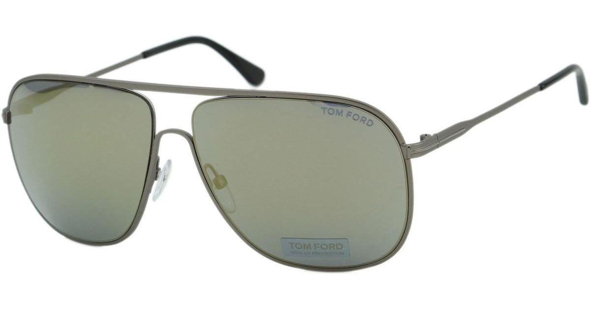 4d173959c21 Lyst - Tom Ford Ft0451 Dominic Aviator Sunglasses for Men