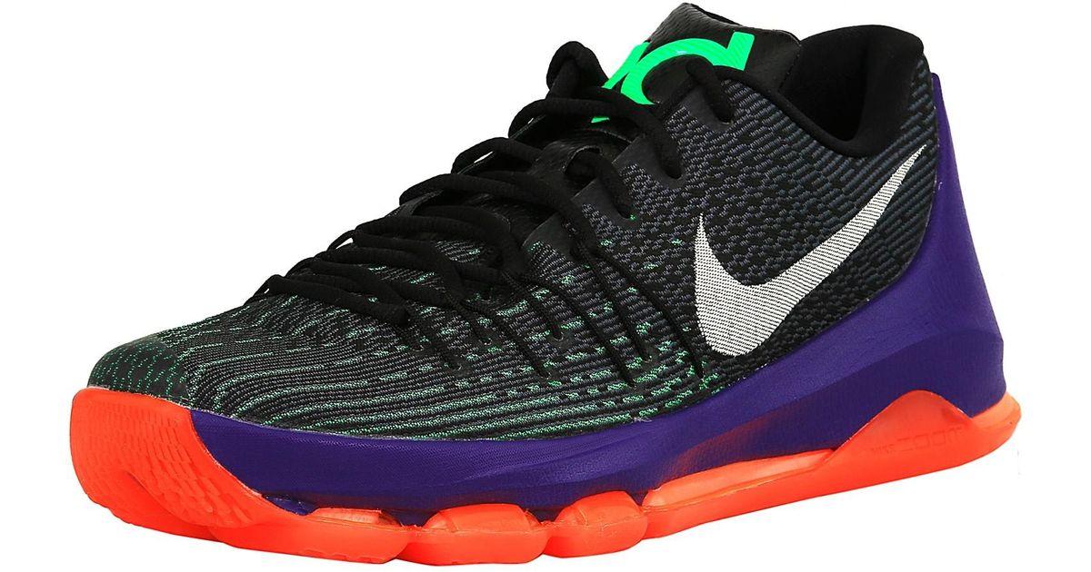 6b773ef0cb3e best lyst nike kd 8 black white green shock hyper orange ankle high fabric  basketball shoe