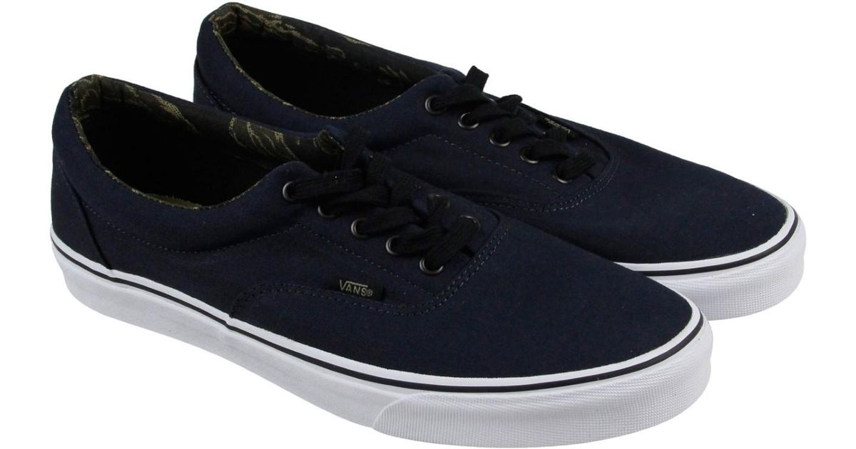 e51fd26c831 Lyst - Vans Era Dark Navy Black Mens Lace Up Sneakers in Blue for Men