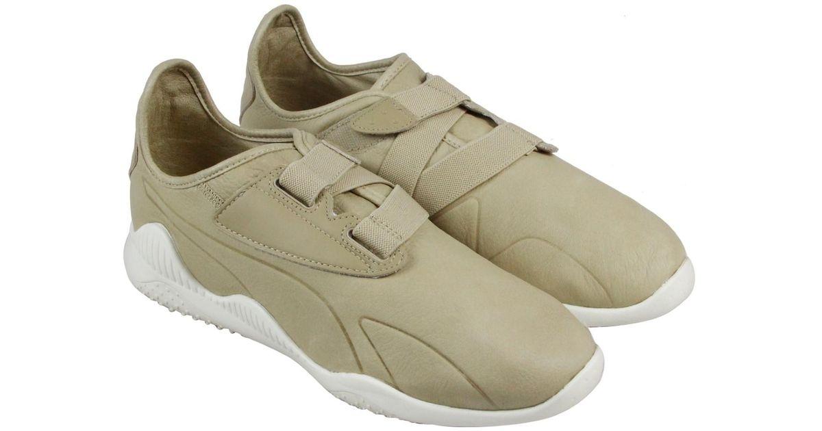 ddb1bf81baea64 Lyst - PUMA Mostro Premium Safari Whisper White Mens Strap Sneakers for Men