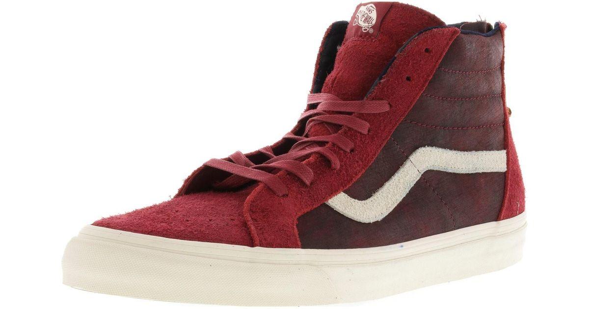 0e0c12f2aaad60 Lyst - Vans Sk8-hi Zip Dx Varsity High-top Skateboarding Shoe - 13m in Red  for Men