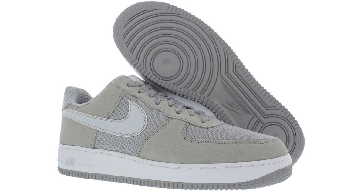 info for 2d455 c66d6 Nike - Gray Air Force 1 Low Suede Shoes Size 11.5 for Men - Lyst