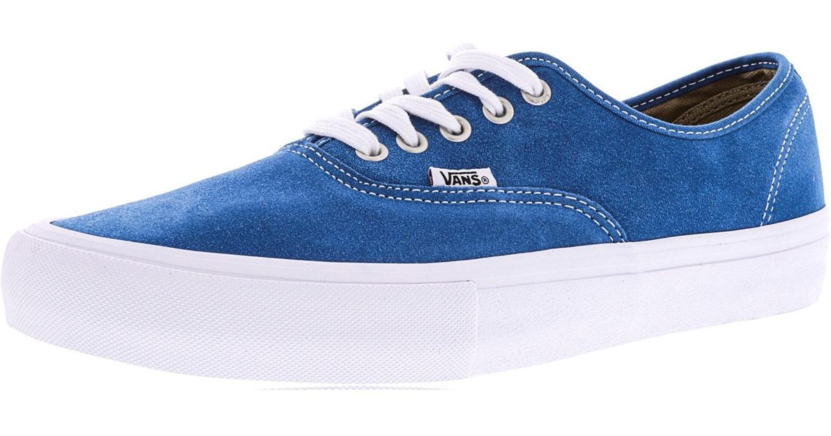 53292fb81e1e Lyst - Vans Authentic Pro Ankle-high Suede Skateboarding Shoe - 11m in Blue  for Men