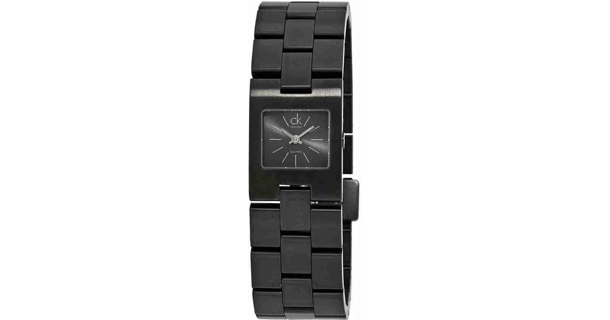a194375b640c1 Lyst - Calvin Klein Kalalis Ladies Watch K0213402 in Black