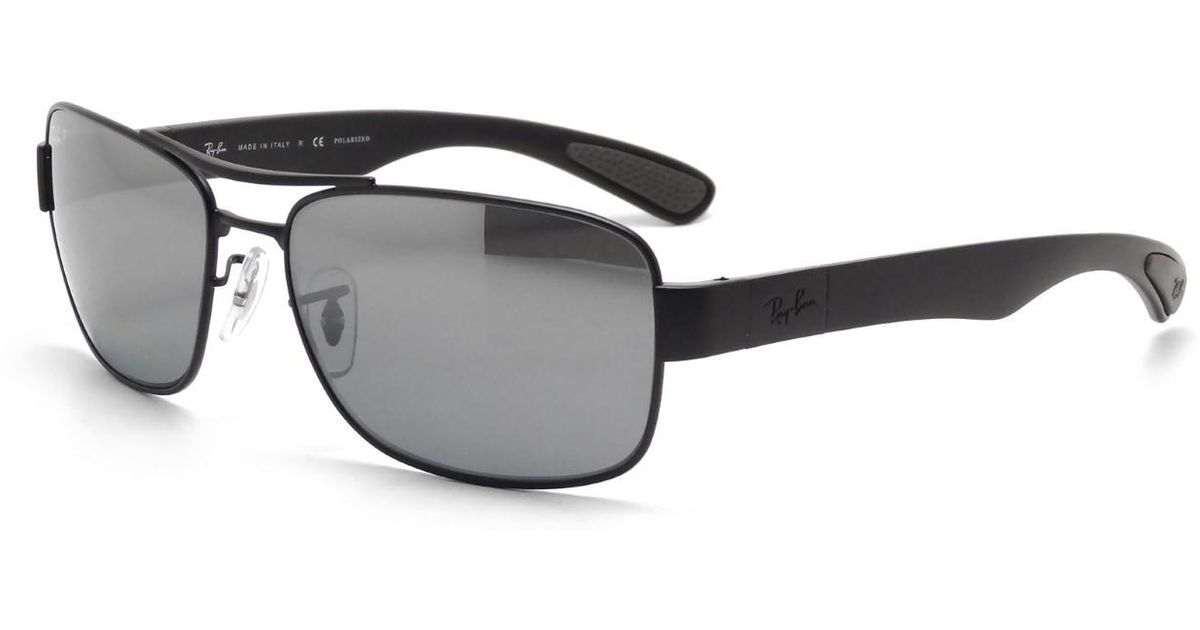79eac7491542 Lyst - Ray-Ban 0rb3522 006 82 64 Matte Black grey Mirror Silver Polar Active  Lifestyle Sunglasses in Black for Men