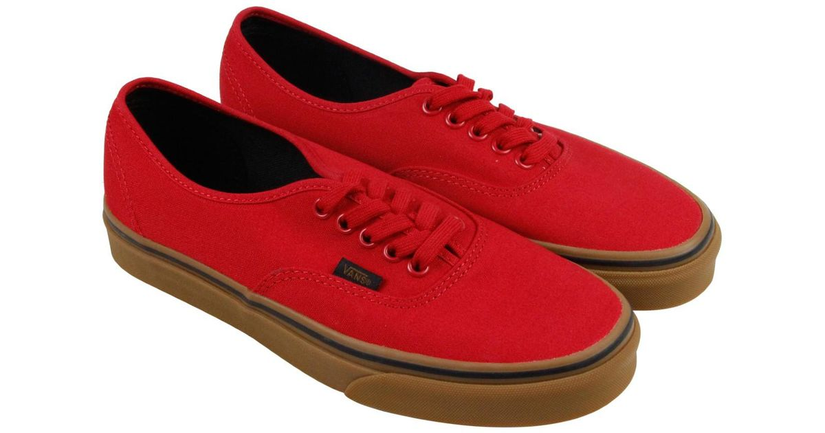 18e672d178 Lyst - Vans Authentic Racing Red Black Mens Lace Up Sneakers in Red for Men