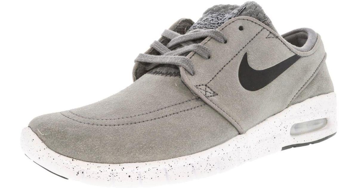... norway lyst nike stefan janoski max l cool grey black white ankle high  fashion sneaker 7m 9739616fe