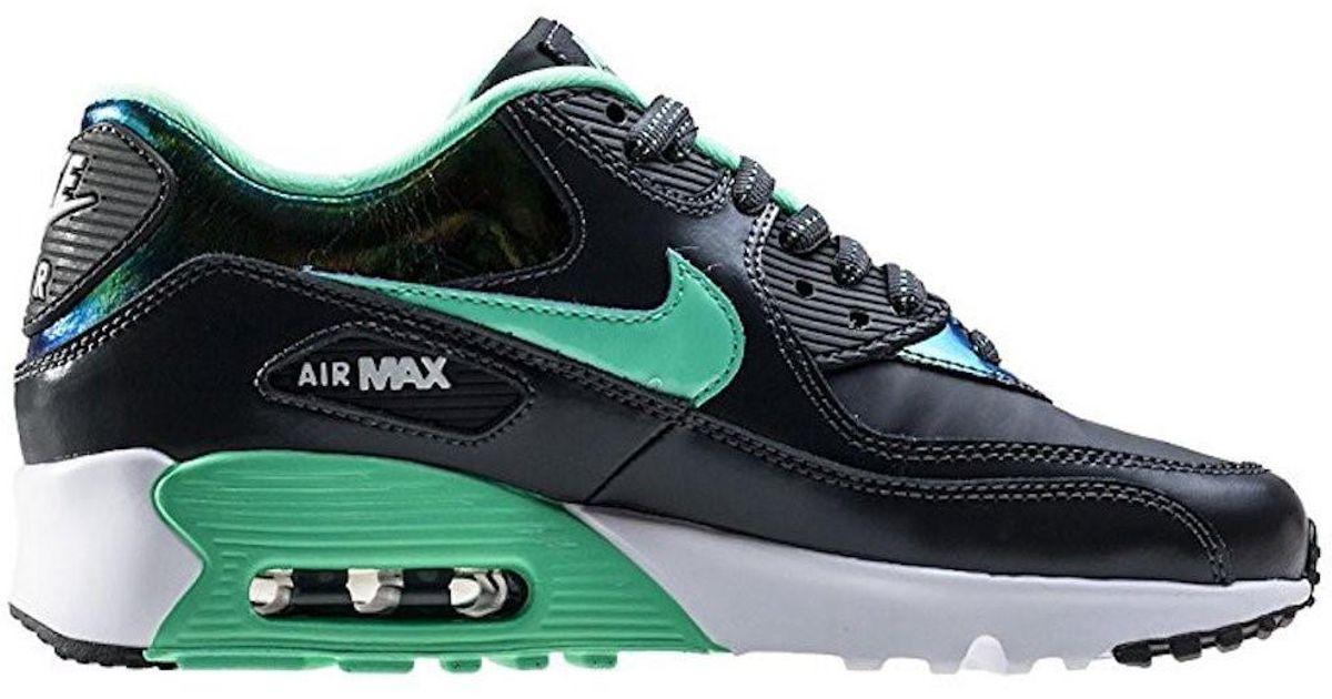 06a351dd21c9 Lyst - Nike Kids Air Max 90 Se Ltr (gs) Anthrcte grn Glw Pr Pltnm White Running  Shoe (4 Big Kid M) in White for Men