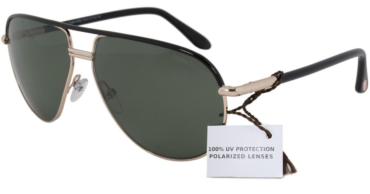 da42bbdd8a Lyst - Tom Ford Ft0285 Cole Aviator Sunglasses in Black for Men