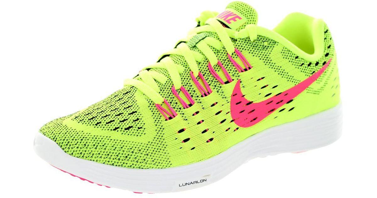 d15f0763d8d Lyst - Nike Volt Pink Pow White Lunartempo Running Sneaker Shoe 7.5 New in  Green