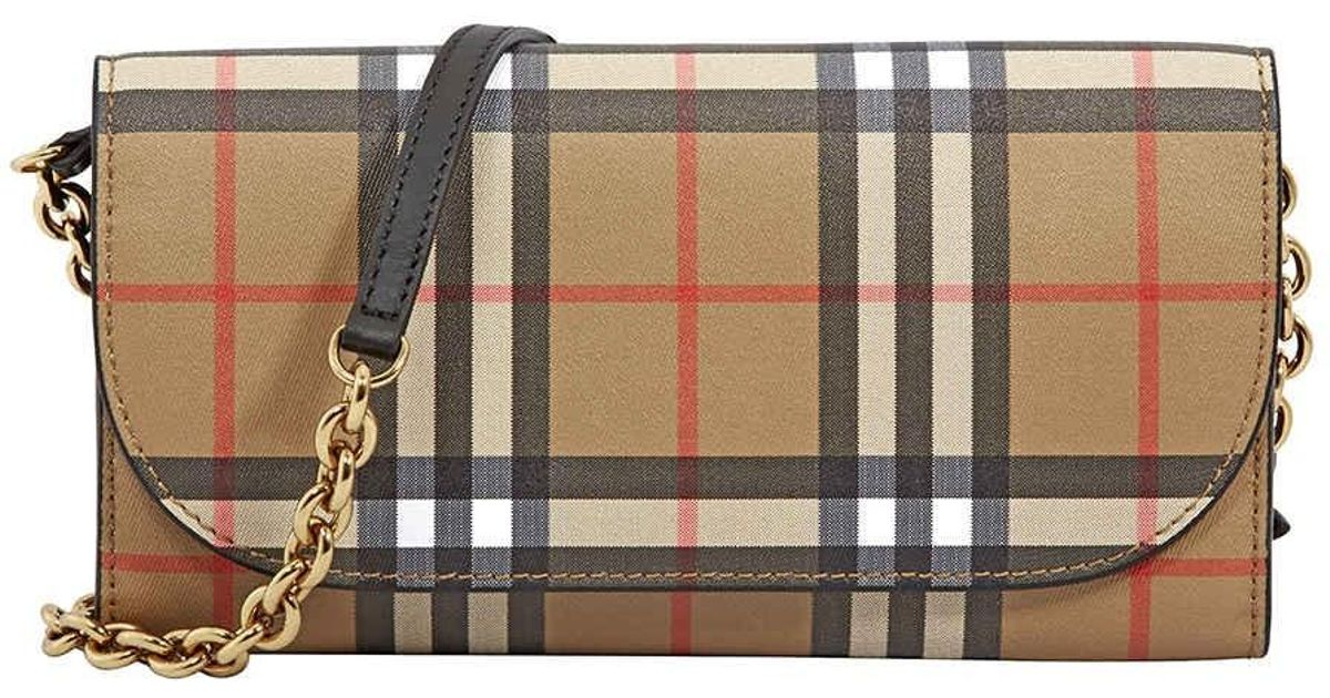 587cc33646c3 Lyst - Burberry Large Vintage Check leather Wallet- Black in Black