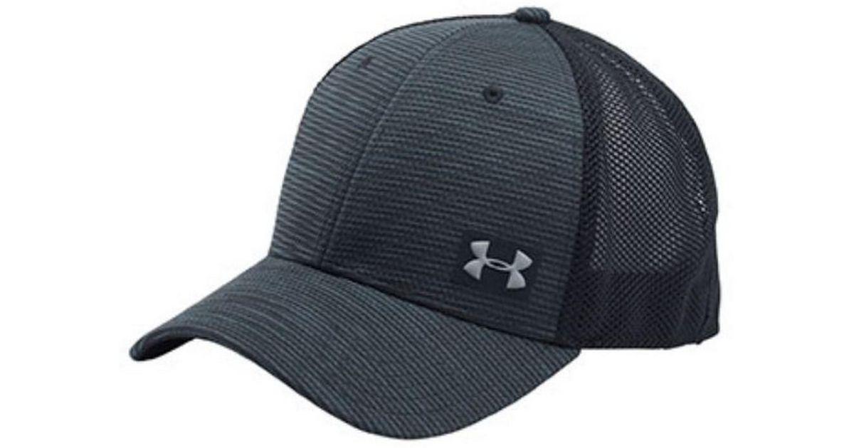 sale retailer de778 23c3b ... switzerland lyst under armour ua blitzing trucker baseball cap hat mesh  back black osfa in black