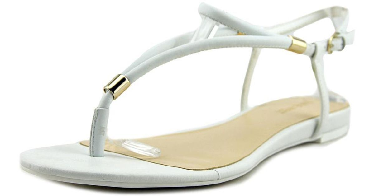 cbcbccbe4451 Lyst - Nine West Rivers Women Us 10 White Thong Sandal in White - Save 50%