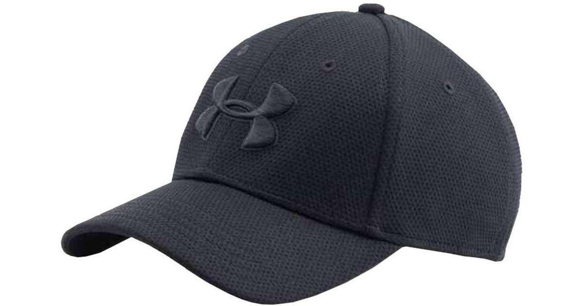 c9d835a7 Under Armour - Black Ua Blitzing Ii Stretch Fit Baseball Cap Hat for Men -  Lyst