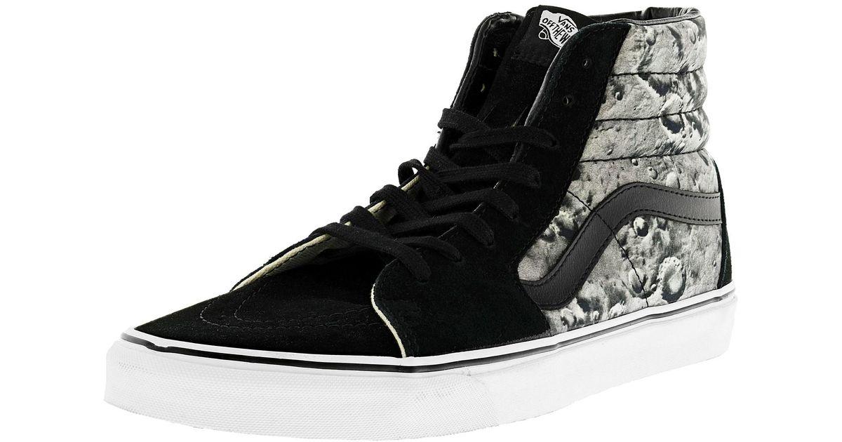 9f469e6aa7 Lyst - Vans Sk8-hi Moon Black   True White High-top Canvas Skateboarding  Shoe in Black for Men