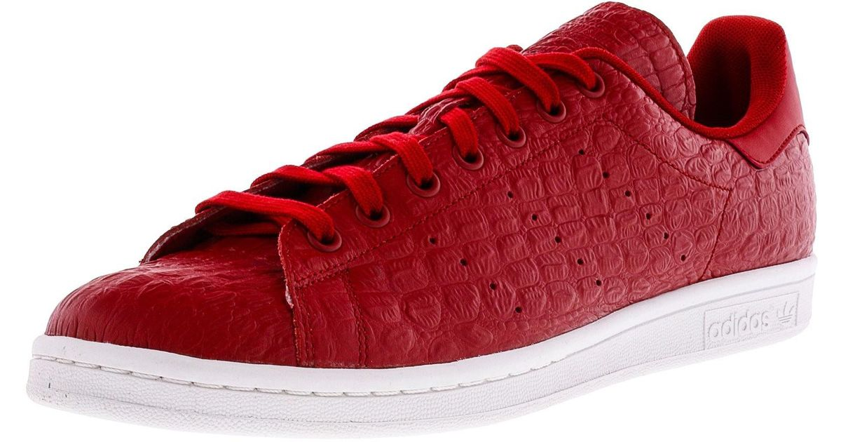 e036de56a6de ... sneakers 1acb0 96c22; canada lyst adidas stan smith red white ankle  high leather fashion sneaker 11m in red for