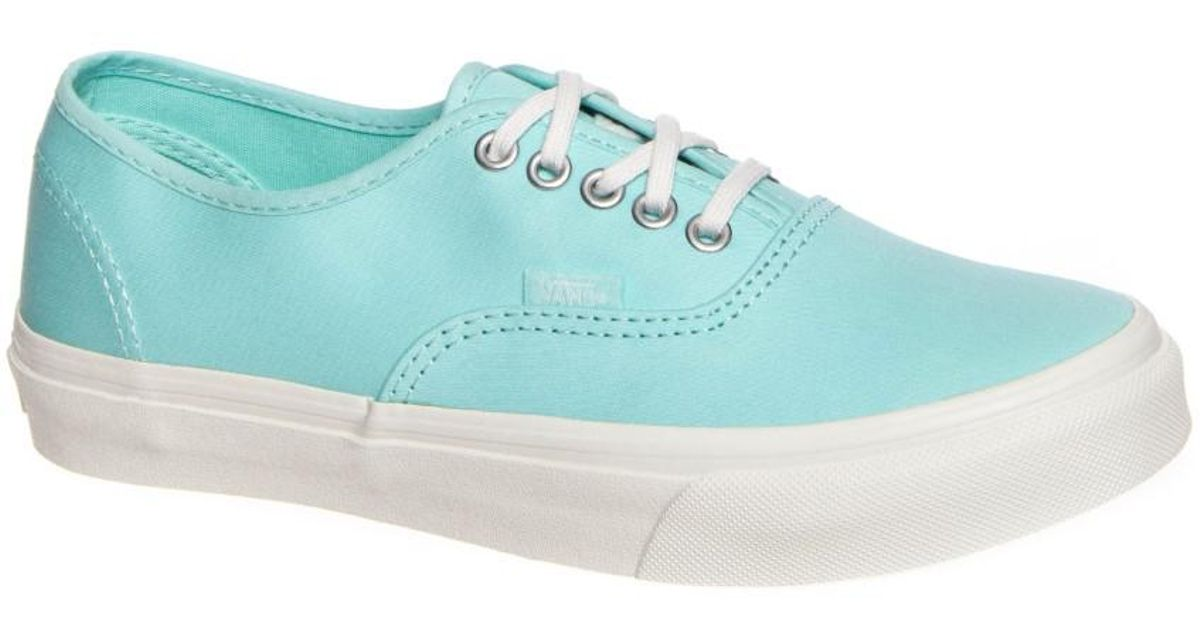 634033f6db4 Lyst - Vans Authentic Slim Brushed Twill Light Blue blanco De Blanco Ankle-high  Fashion Sneaker in Blue