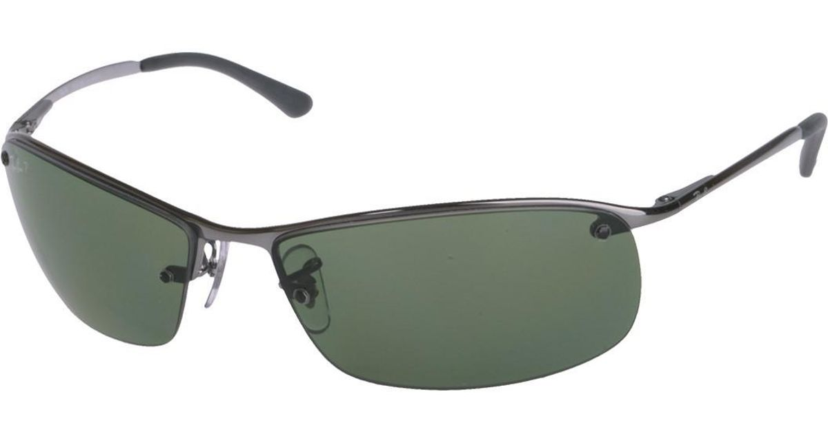 ed13de017bb Lyst - Ray-Ban 0rb3183 004 9a 63 Gunmetal polar Green Active Lifestyle  Sunglasses - Bundled Item With Cleaning Kit in Green for Men