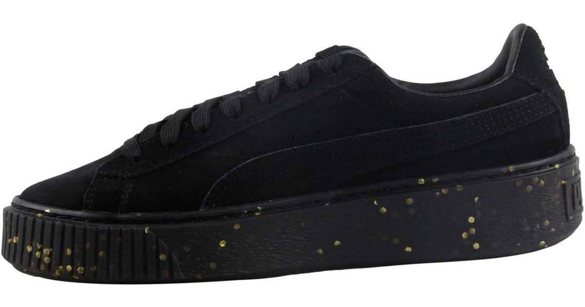 a4f5194364ff18 Lyst - PUMA Platform Bboy Fab Team Gold Lace Up Sneakers in Black