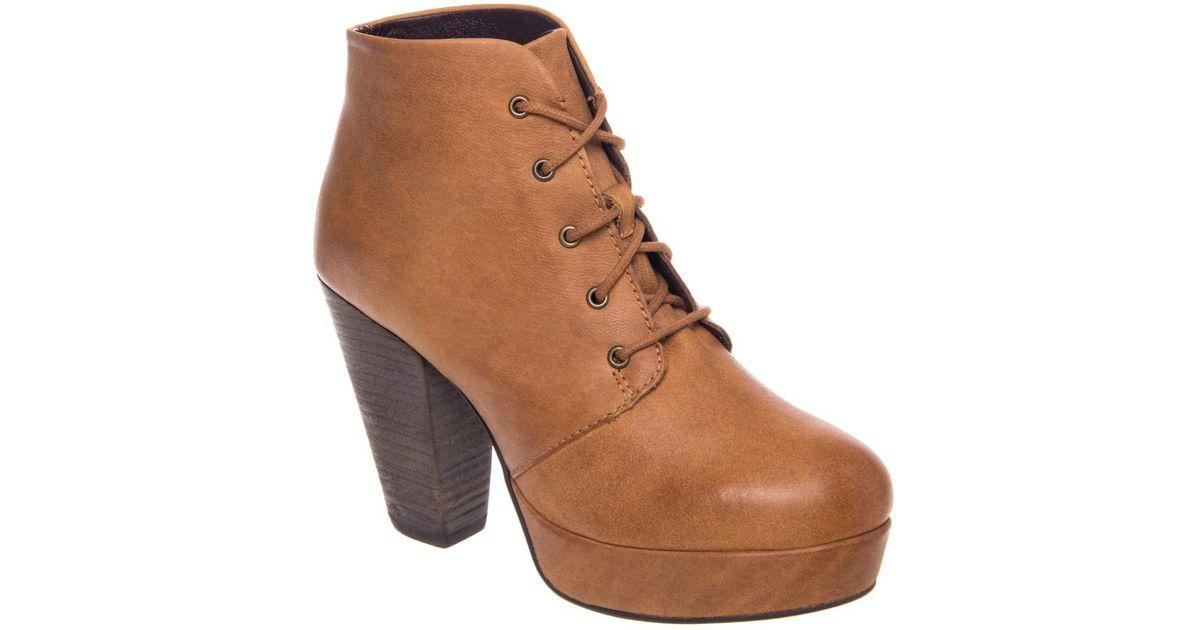8d698fc1cb8 Lyst - Steve Madden Raspy High Heel Bootie in Brown