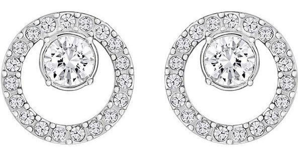 Lyst - Swarovski Creativity Circle Small Pierced Earrings - 5201707 in  Metallic 65b78147fd1