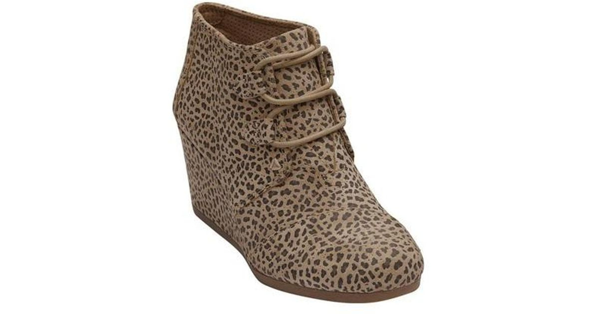 484fb76e54a Lyst - TOMS Kala Desert Wedge Bootie in Brown