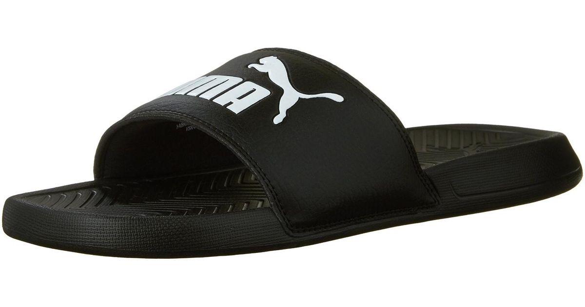 92f0e168b2f413 Lyst - PUMA 360265-10  Popcat Slide Sandal Black in Black for Men