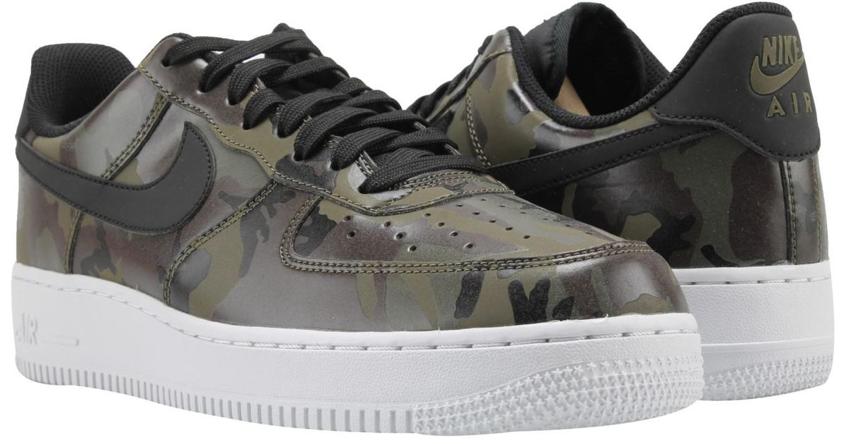 edfdfcd02818 Lyst - Nike Air Force 1  07 Lv8 Medium Olive camo Basketball Shoes 823511- 201 in Black for Men