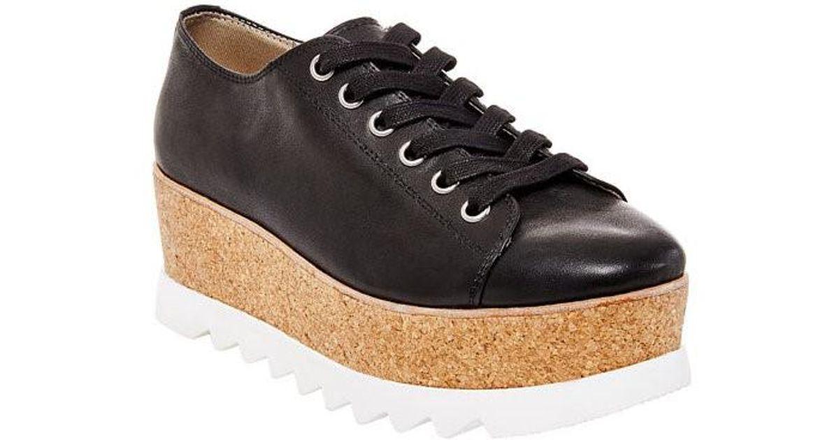 c25730ee08e Lyst - Steve Madden Women s Korrie Lace-up Platform Sneakers in Black