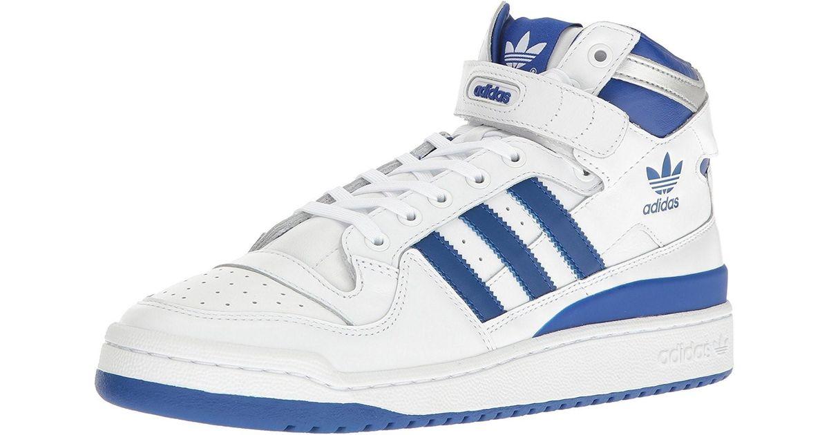competitive price 8ab48 0f568 Lyst - Adidas Originals Forum Mid Refined Whitecollegiate Royalsilver Met  Mens for Men