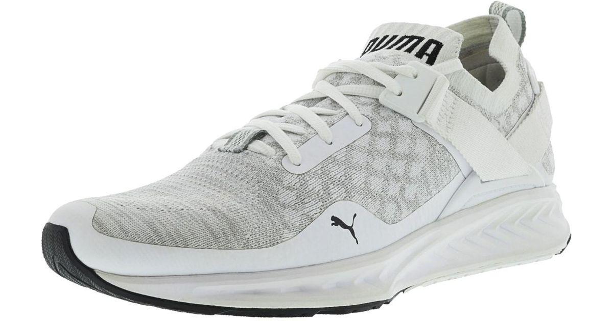 low cost cfba9 4ce10 PUMA - White Ignite Evoknit Low Top Sneaker for Men - Lyst