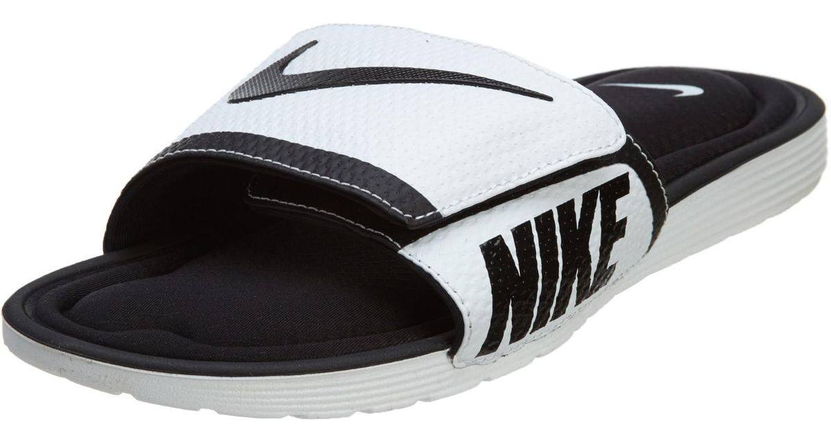 42b23fa53 Lyst - Nike Mens Solarsoft Comfort Slide in Black for Men