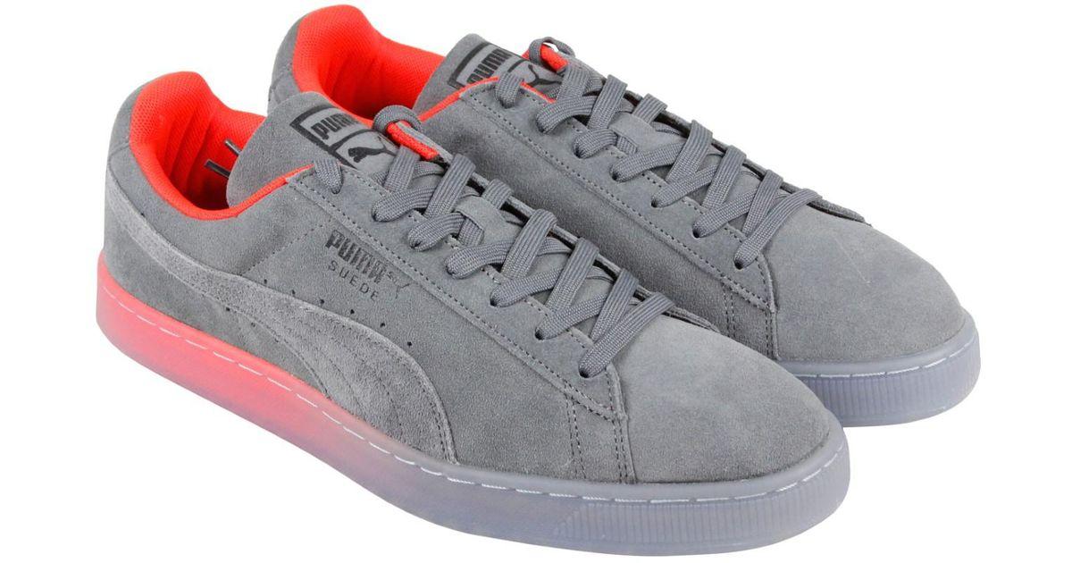 reputable site 74b53 d13f7 PUMA - Gray Suede Classic V2 Fade Future Sneakers - Lyst