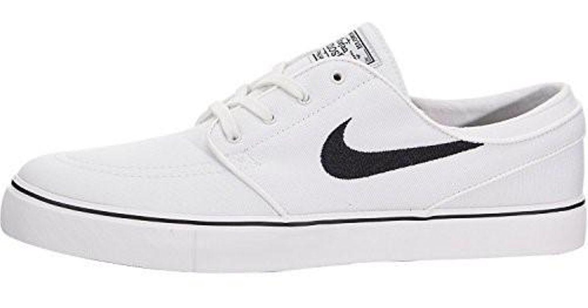 acd7a1d287 Lyst - Nike Zoom Stefan Janoski Cnvs Summit /black Skate Shoe 10.5 in White