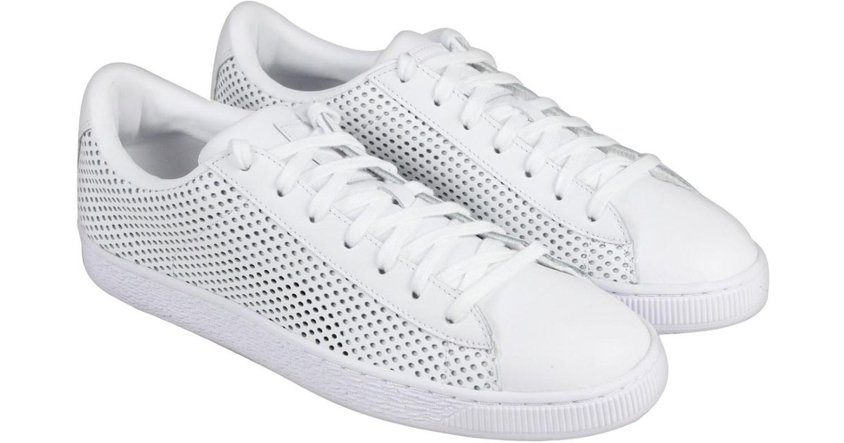 Classic Puma Up Basket Lyst Mens Men Summer White Lace Sneakers For Shade kTPuXZiO
