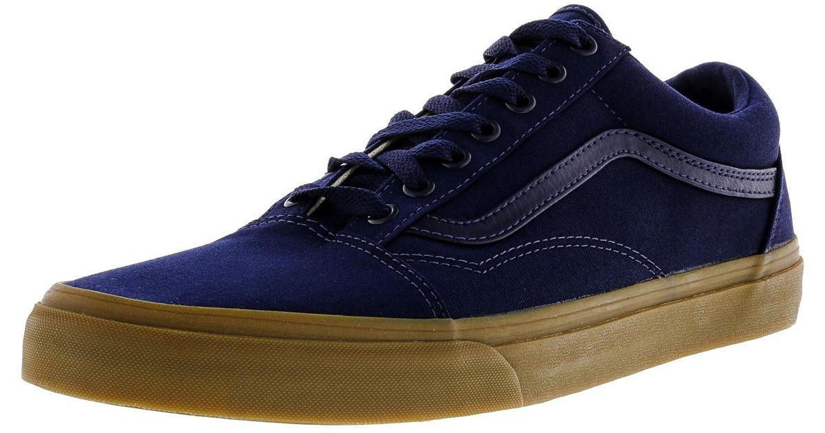 55c56c15ff Lyst - Vans Old Skool Canvas Gum Eclipse   Light Ankle-high Skateboarding  Shoe - 12m in Blue for Men