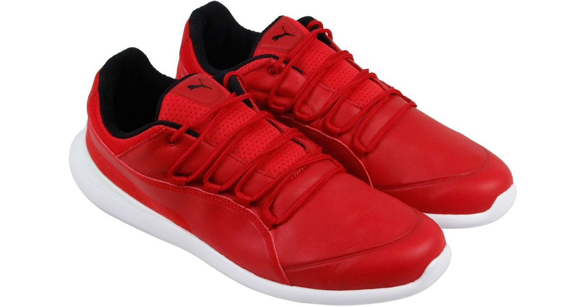 198f5fd842b548 Lyst - PUMA Sf Evo Cat Rosso Corsa Rosso Corsa White Mens Lace Up Sneakers  in Red for Men