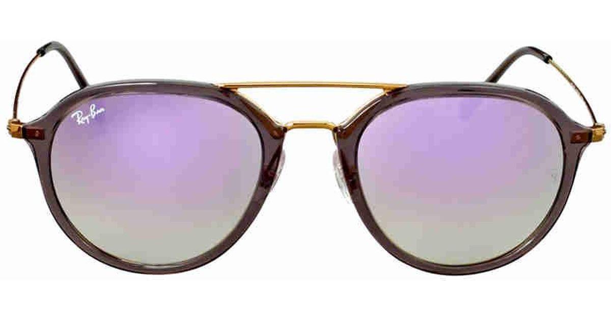 a10ae433a8 Lyst - Ray-Ban 0rb4253 62377x 53 Shiny Grey lilac Flash Gradient Highstreet  Sunglasses