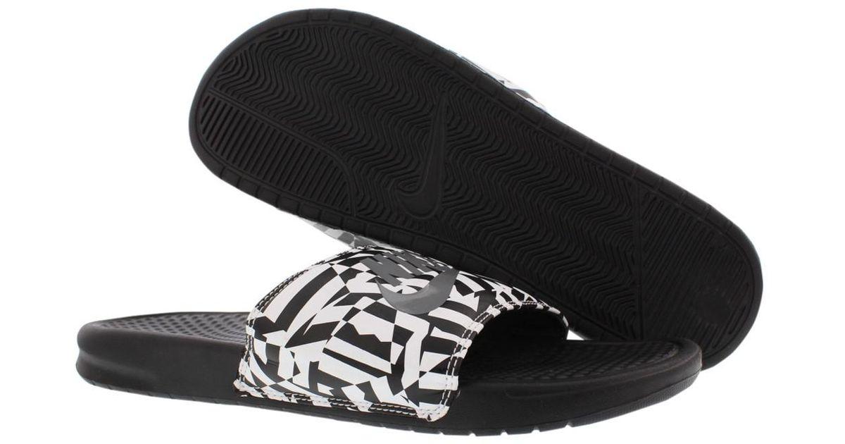 Nike Print Jdi Shoes Size 13 Benassi Men For Lyst Black Sandals PZiukX