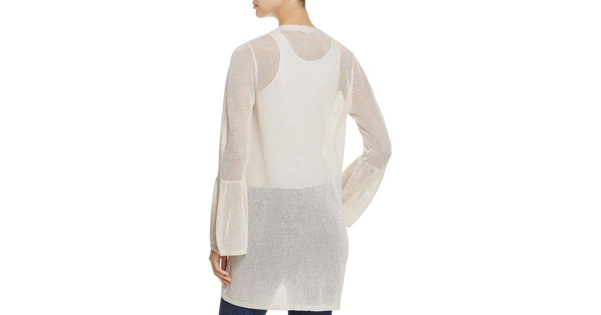 Lyst Calvin Klein 205w39nyc Metallic Bell Sleeve Cardigan Sweater