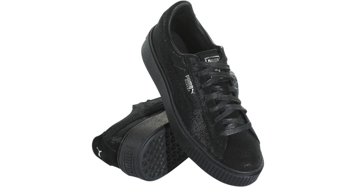 bc22c29a294a84 Lyst - PUMA 363313-04 Basket Platform Reset in Black